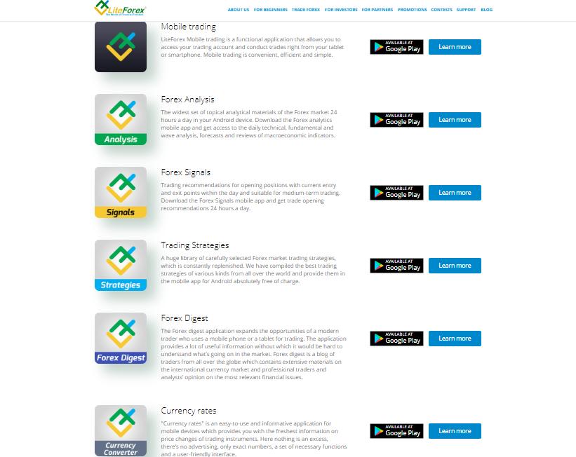 LiteForex Mobile App
